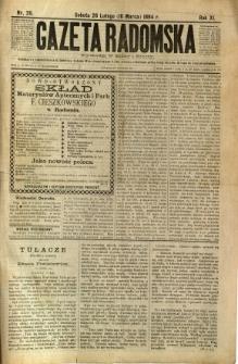 Gazeta Radomska, 1894, R. 11, nr 20