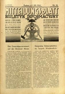 Mitteilungsblatt der Industrie-u. Handelskammer für den Distrikt Radom = Wydawnictwo Informacyjne Izby Przemysłowo-Handlowej dla Dystryktu Radomskiego, 1941, R. 2, nr 13