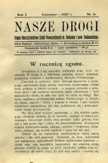 Nasze Drogi, 1927, R. 1, nr 3