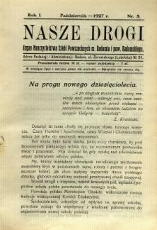 Nasze Drogi, 1927, R. 1, nr 5