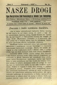Nasze Drogi, 1927, R. 1, nr 6