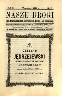 Nasze Drogi, 1928, R. 2, nr 7