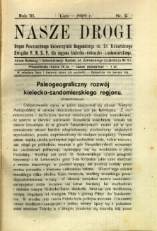 Nasze Drogi, 1929, R. 3, nr 2