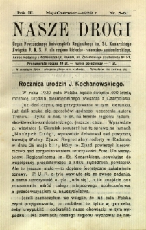 Nasze Drogi, 1929, R. 3, nr 5/6