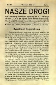 Nasze Drogi, 1929, R. 3, nr 7