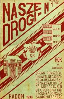 Nasze Drogi, 1930, R. 4, nr 1