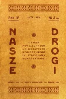 Nasze Drogi, 1930, R. 4, nr 2