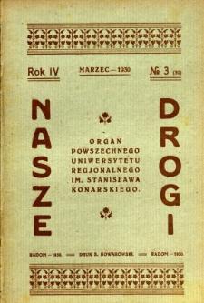 Nasze Drogi, 1930, R. 4, nr 3