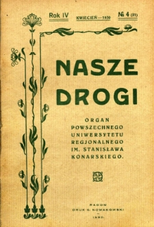 Nasze Drogi, 1930, R. 4, nr 4