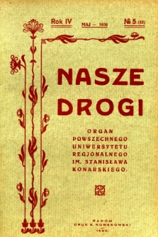 Nasze Drogi, 1930, R. 4, nr 5