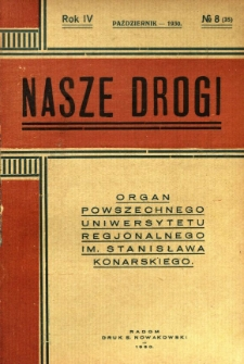 Nasze Drogi, 1930, R. 4, nr 8