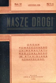 Nasze Drogi, 1930, R. 4, nr 9