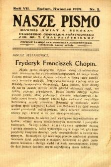 Nasze Pismo, 1929, R. 7, nr 2