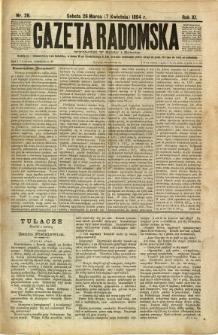 Gazeta Radomska, 1894, R. 11, nr 28
