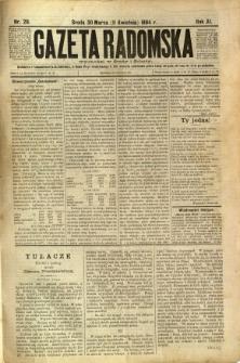 Gazeta Radomska, 1894, R. 11, nr 29