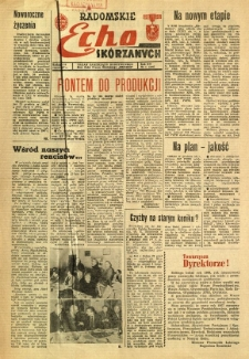 Radomskie Echo Skórzanych, 1967, R. 12, nr 1