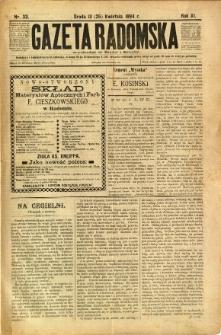 Gazeta Radomska, 1894, R. 11, nr 33