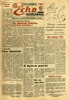 Radomskie Echo Skórzanych, 1968, R. 13, nr 10