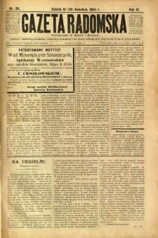 Gazeta Radomska, 1894, R. 11, nr 34