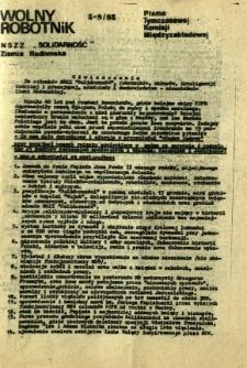 Wolny Robotnik, 1985, nr 5-8