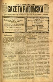 Gazeta Radomska, 1894, R. 11, nr 37