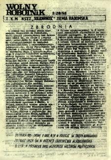 Wolny Robotnik, 1985, nr 3