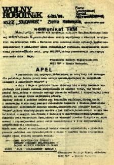 Wolny Robotnik, 1985, nr 4