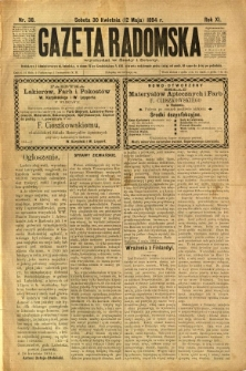 Gazeta Radomska, 1894, R. 11, nr 38
