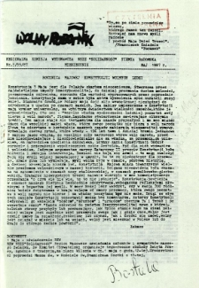 Wolny Robotnik, 1987, nr 5