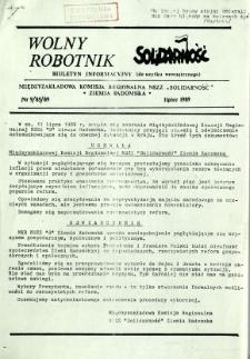 Wolny Robotnik, 1989, nr 9