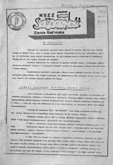 NSZZ Solidarność Ziemia Radomska, 1980, [nr 1]