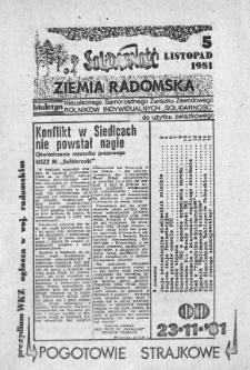 NSZZ Solidarność Ziemia Radomska, 1981, 1981-11-05