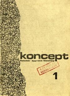 Koncept : Radomski Kwartalnik Niezależny, 1986, nr 1