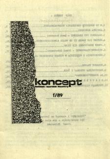 Koncept : Radomski Kwartalnik Niezależny, 1989, nr 1
