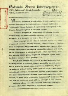 Radomski Serwis Informacyjny, 1981, nr 1