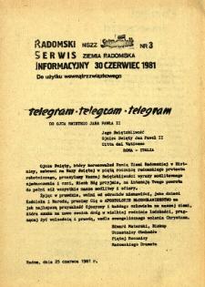 Radomski Serwis Informacyjny, 1981, nr 3