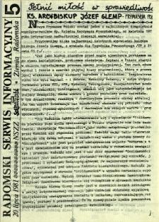 Radomski Serwis Informacyjny, 1981, nr 5