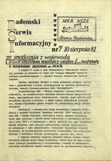 Radomski Serwis Informacyjny, 1981, nr 7
