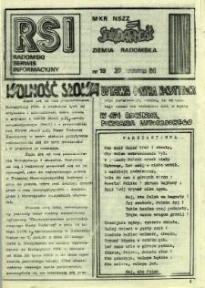 Radomski Serwis Informacyjny, 1981, nr 19