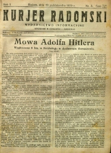 Kurier Radomski, 1939, R. 1, nr 3