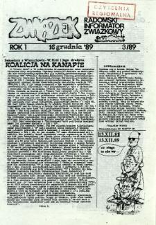 Związek : Radomski Informator Związkowy, 1989, R.1, nr 3