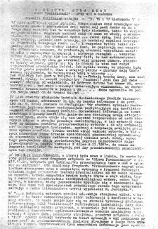 Biuletyn Strajkowy NSZZ Solidarność przy WSI w Radomiu, 1981-11-15/17