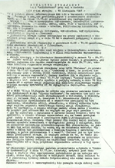Biuletyn Strajkowy NSZZ Solidarność przy WSI w Radomiu, 1981-11-18