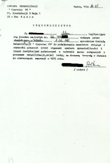 Pełnomocnictwo, z dnia 16 maja 1990 r.