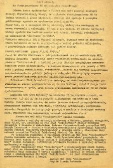 List otwarty do funkcjonariuszy MO województwa radomskiego