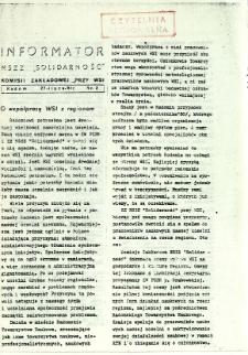 Informator NSZZ Solidarność : Komisji Zakładowej przy WSI, 1981, nr 2