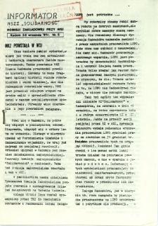 Informator NSZZ Solidarność : Komisji Zakładowej przy WSI, 1981, nr 5