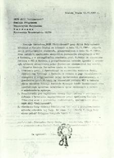 Komisja Zakładowa NSZZ Solidarnosć przy filii Politechniki Łódzkiej w Bielsku-Białej ...