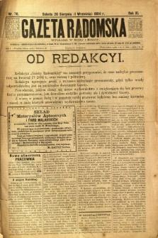Gazeta Radomska, 1894, R. 11, nr 70