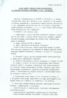 Plan ramowy izolacji osób podejrzanych na wypadek poważnego zagrożenia w woj. radomskim
